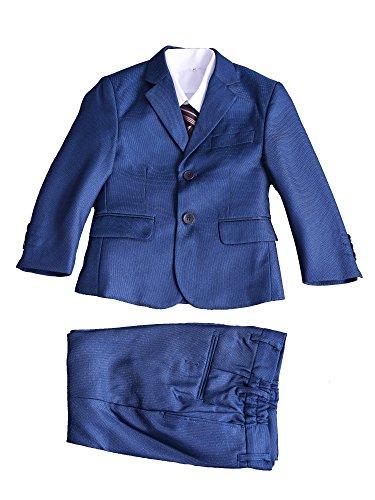 Cinda 5 Stück Boy Anzüge Hochzeit Anzug Junge Seite Partei-Abschlussball -Klagen Blau 122-128