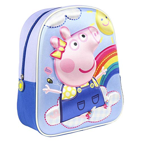 CERDÁ LIFE'S LITTLE MOMENTS - Peppa Wutz 3D Rucksack Kinder | Peppa Wutz Schulrucksack für Kinder, einheitsgröße, rosa