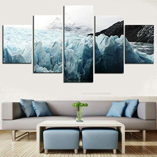 RuYun 5 groottinten strandrestaurant rotsachtige seascape schilderij slaapkamer sofa achtergrond decoratief schilderwerk canvas schilderij kantoren, schilderij kern 30x60cmx2 30x80cmx1 30x40cmx2, h233-7