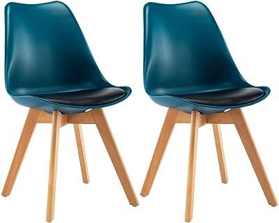 Chaise Salle en de rembourré CASA2X Blanc Manger Design à PZikXu