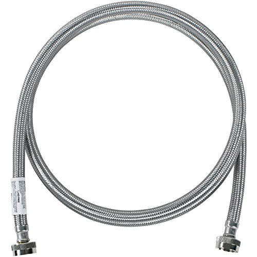 Certified Appliance Accessories Washing Machine Hose, Hot or Cold Water Supply Line, 8 Feet, PVC Core with Premium Braided Stainless Steel