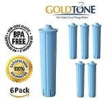 GoldTone Wasserfilter für Jura Espresso-Maschinen und Jura Capresso Kaffeemaschine. Ersetzt Ihren Jura Clearyl Blue Wasserfilter – (6 Stück)