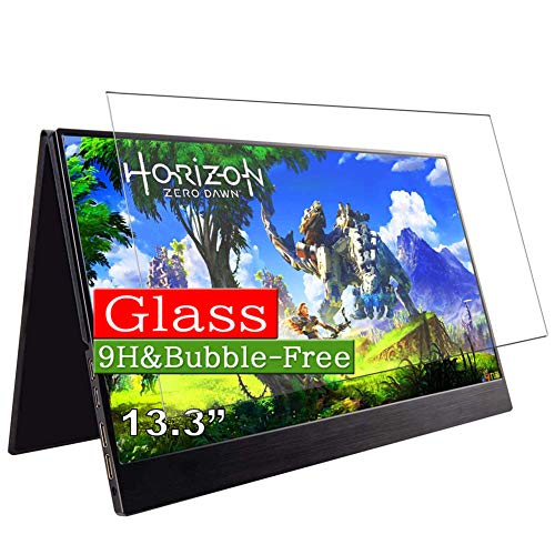 """Synvy Tempered Glass Screen Protector Compatible with cocopar 13.3"""" XZB- 133C / co-133-C Monitor Display Visible Area Protective Screen Film Protectors 9H Anti-Scratch Bubble Free"""