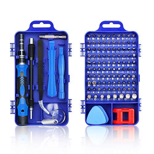 Komake Mini Schraubendreher Set,115 in 1 Feinmechaniker Set Schraubenzieher Reparatur Set,Torx Bit Magnetische PräzisionSchraubendreher Set für iPhone,Laptop,Tablet,Uhren,Kamera,Elektronik Set