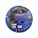 S&M 553004 Manguera De Jardín Reforzada, Azul, 1500x34x12 cm