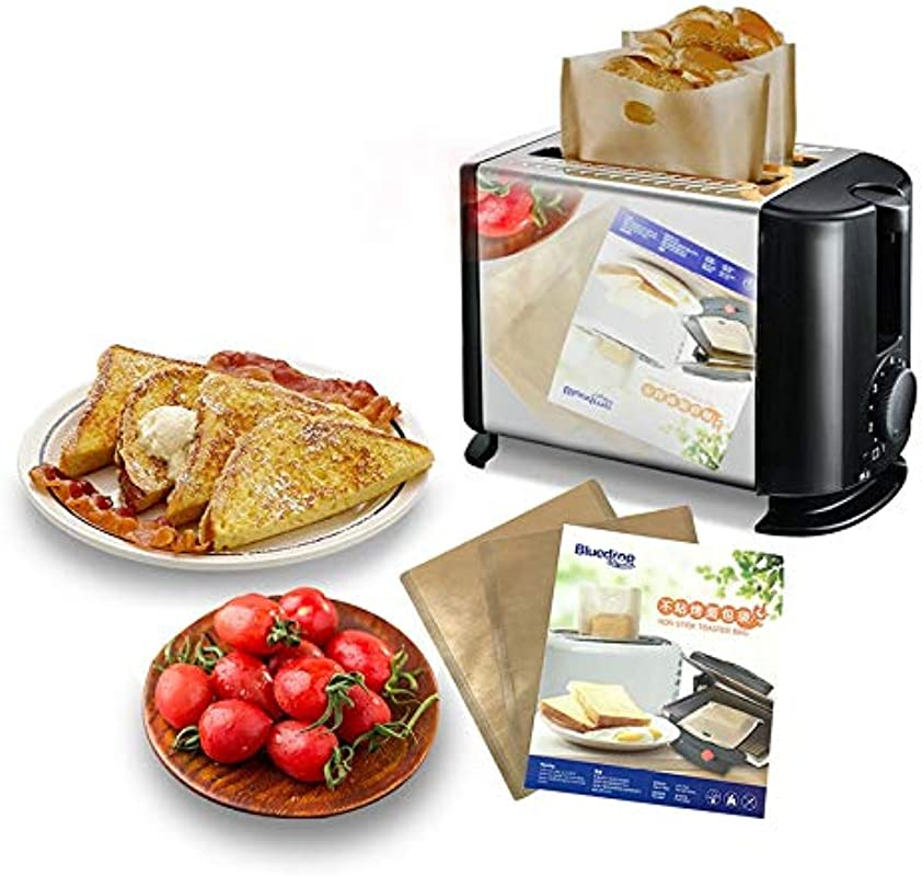 Purra145 Sandwich Toaster Bag 17X19Cm Toaster Bags For Sandwich Bread Heat Toast Bread PTFE Bag Nonstick Bags 12 Pcs Teflon Non Stick Bags