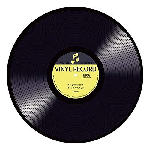YWLINK Modern Vinyl Record Gedruckt Runde Teppiche Weicher Schlafzimmer Bodenmatte Creative