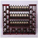 Productos para el hogar Estantes de vino Estante de vino de pie y gabinete de vino Soporte de exhibición para bar Sótano Bodega Cocina Comedor Gran capacidad Sin estante Estante de almacenamiento A