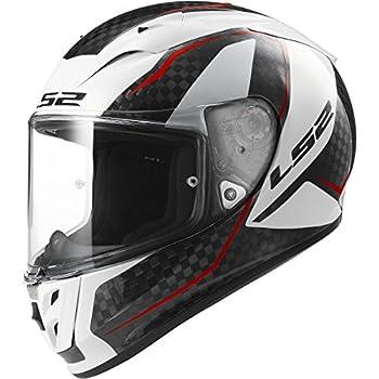 LS2 Helmets Arrow Carbon Fury Full Face Motorcycle Helmet  Gloss White - XX-Large