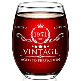 AOZITA 50th Birthday Gifts for Women and Men - 15oz Wine Glass - 50th Birthday Decorations for Women - 50th Anniversary Ideas for Her, Mom, Dad, Husband, Wife - 50 Years Gifts
