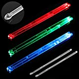 YiPaiSi Bright LED Light Up Drumsticks, 5A Drumsticks Light LED, Light Up Drumsticks, Glow in The...