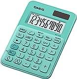 Casio MS-7UC - Calculadora (Escritorio, Pantalla de calculadora, 10 dígitos, 1 líneas, Batería, Verde)