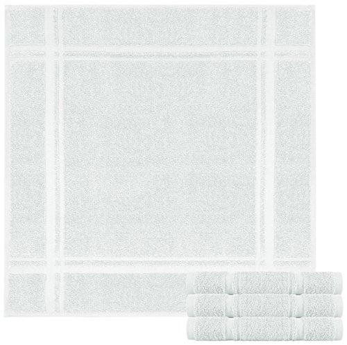 Lashuma Juego de 4 paños de cocina de rizo – Paños de cocina de 100% algodón – Paños de cocina en bonitos colores de moda, 100 % algodón, Ágata gris., 50 x 50 cm