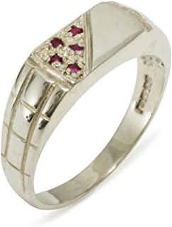 AMDXD Jewelry Gold Plated Wedding Rings for Men Footprint Cubic Zirconia