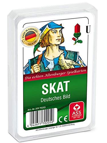 Spielkartenfabrik Altenburg GmbH (ASS) Skat, deutsches Bild mit Kornblume, Kunststoffetui