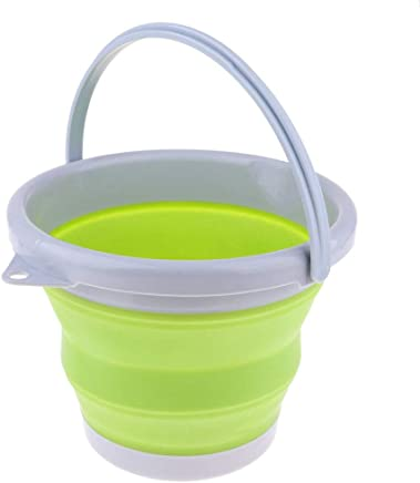 Prettyia Camping Folding Collapsible Silicone Bucket Outdoor Hiking Barrel