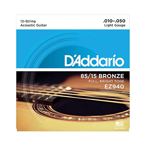 D'Addario EZ940 Great American Bronze Light (.010.-050) 12-String Acoustic Guitar Strings