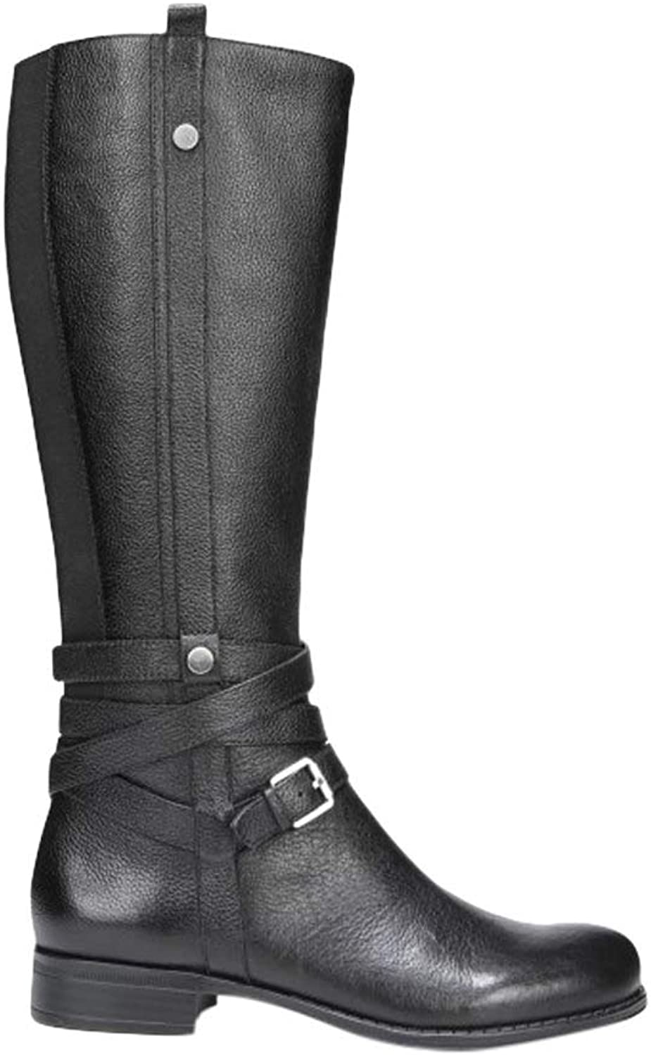 Naturalizer Women's Wide Calf Jango Riding Boot, Black, 8.5 M