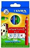 LYRA Groove Triple I Kartonetui mit 6 Farbstiften, Sortiert, Mehrfarbig, 6 Stifte, 3831060 -