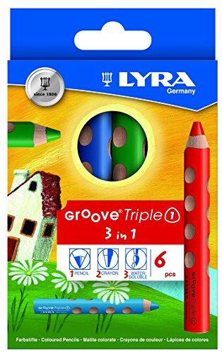LYRA Groove Triple I Kartonetui mit 6 Farbstiften, Sortiert