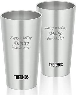 [名入れショップ Happy Gift]サーモス THERMOS ステンレスタンブラー 300ml2個セット JDI-300 マット 2本