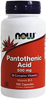 Now Foods Pantothenic Acid, 100 Caps 500 mg