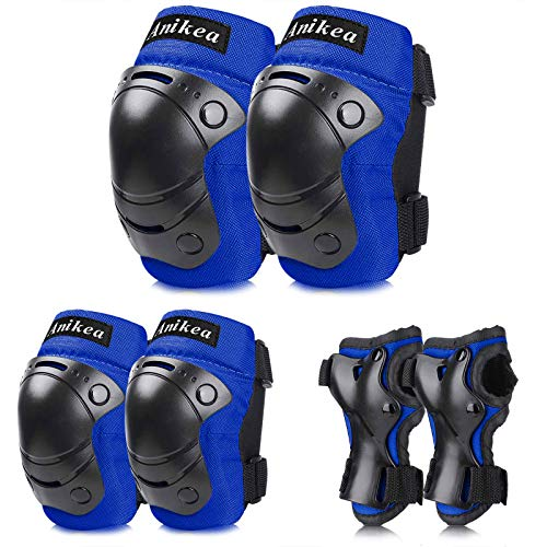 Anikea Kids Knee Pads Elbow Pads Wrist Guards,Toddler...
