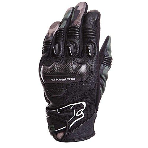 Bering Dereck - Par de guantes para moto, color negro camuflaje, talla 12