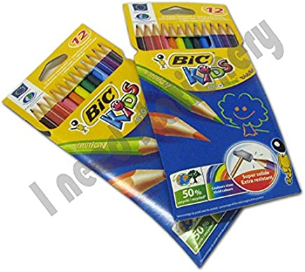 BIC KIDS Wood Free Colouring Pencils x24