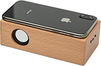 OHHAI Wireless Touch Stereo Portable Wooden Speaker,Without Bluetooth Pairing