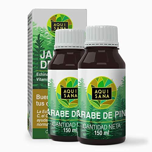 Jarabe de Pino - Aquisana | Jarabe con Equinacea + Propóleo +Vitaminas | Ayuda a reducir la Tos-libre de alérgenos - 300 ML