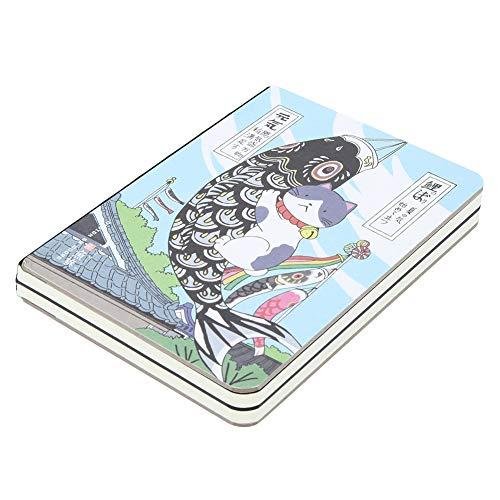 Zusammensetzung Notebook, College School Notebooks Thema Daily Journal Notebook, Japanische Cartoons Gedruckt Cover, Dickes Papier, 5,7 '' * 4,1 '', 224 Seiten(Angeln)