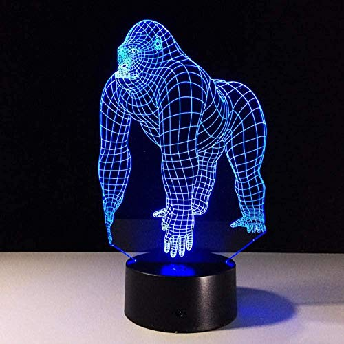 Gorilla 3D Led Lamp 7 Color Led Night Lamps para ni?os Touch Led Usb Table Lamp Baby Sleeping Night Light 3D Hologram Lamp