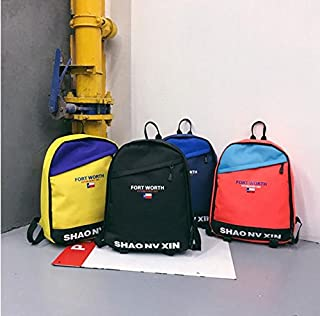 Leng QL Personality Backpacks High School Unisex Student Street Shooting Schoolbag Canvas Backpack