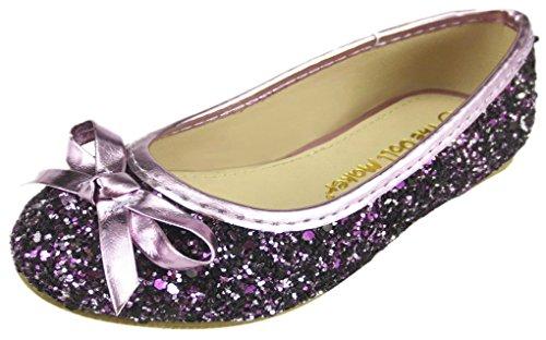 The Doll Maker Glitter Ballet Flat-TD171001A-8 Purple