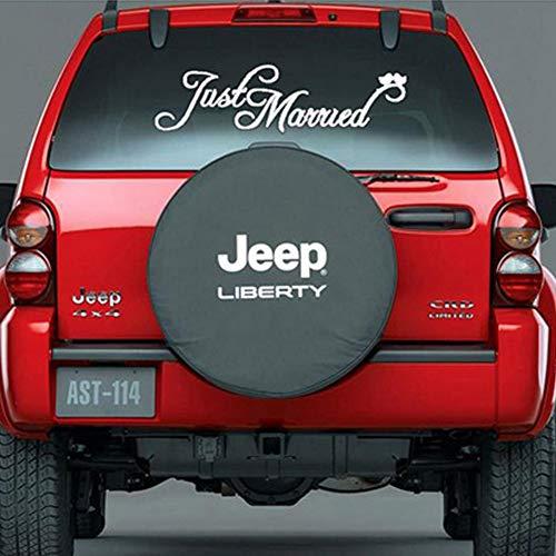 """EQLEF® Aufkleber, """"Just Married"""", für Auto, Wandaufkleber, Vinyl, zur Hochzeit, Dekoration, für Auto-Heck, Spiegel"""