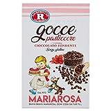 F.Lli Rebecchi Valtrebbia Dolci Decori Gocce Pasticcere di Cioccolato Fondente, 125g
