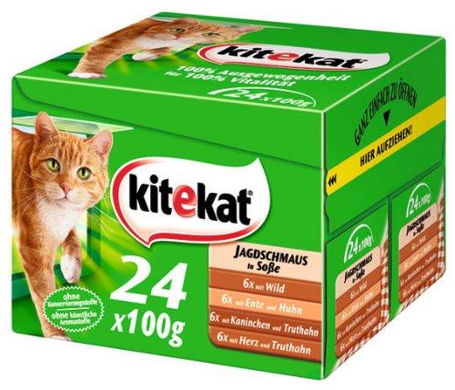 Kitekat Multipack 24 Jagdschmaus in Soße 2x(24x100g) - Katzenfutter