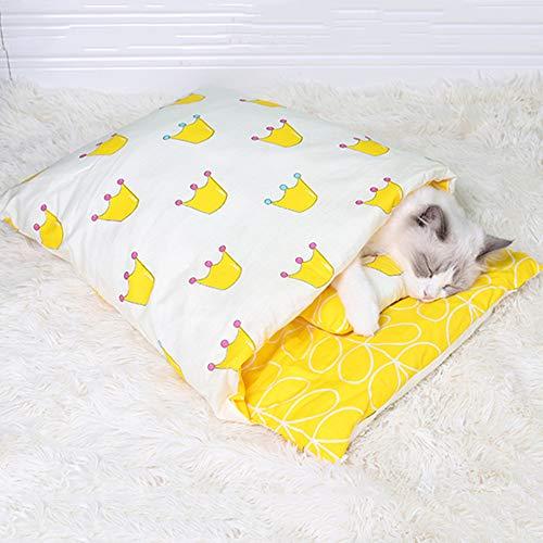 SANJIJIfeididna Cama de Invierno para Perros Gatos Saco de Dormir para Gatos Cojín para Sofá Cama Cálida para Mascotas Casa para Gatos Cama Pequeña para Mascotas