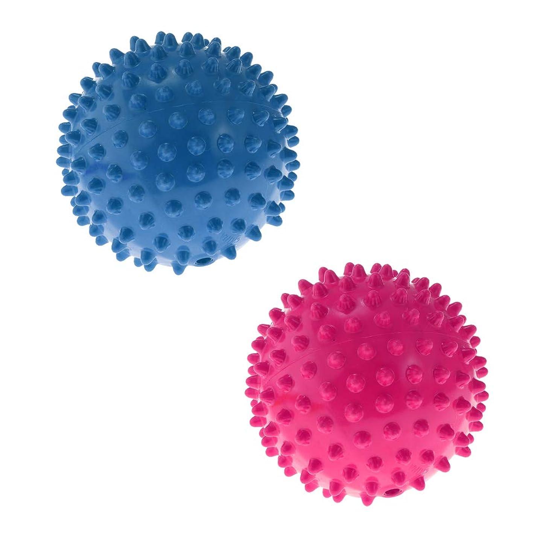 置換ライセンス声を出してPerfeclan マッサージローラー マッサージボール 触覚ボール リハビリ ヨガ練習 10CM 2色 2ピース入り