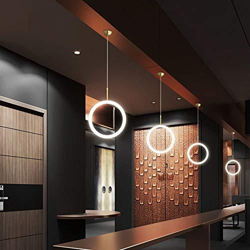 DC Wesley Moderna minimalista creativa personalidad LED mesa de bar comedor lámpara de araña
