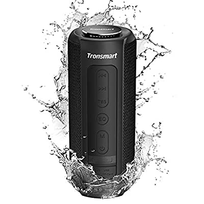 Bluetooth Speaker 5.0, Tronsmart T6 Plus 40W Portable Outdoor Wireless Speaker With Tri-Bass Effects, 6600mAh Powerbank, IPX6 Waterproof, 15 Hrs Playtime, Voice Assistant and handsfree call by Tronsmart