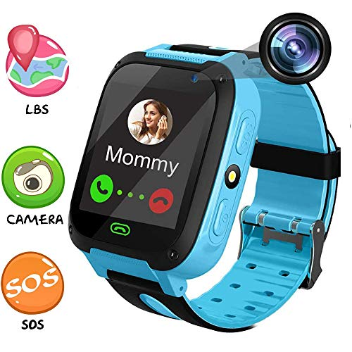 MUXAN Kids Smartwatch, Smart Watch for Kids with Camera Children LBS Realtime Worldwide Locator Anti Lost Waterproof Smart Watches Voice Intercom Wearable Device TKS4