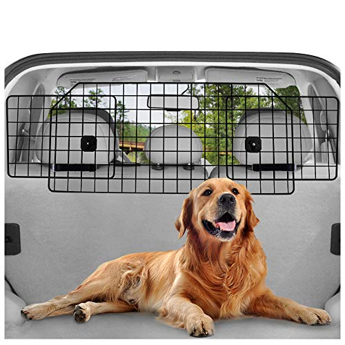 rabbitgoo Dog Car Barrier for SUVs, Van, Vehicles - Adjustable Large Pet SUV Barriers Universal-Fit,...
