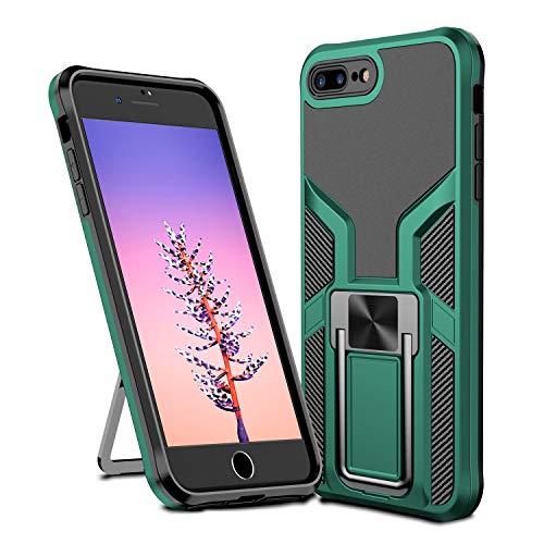 MOONCASE Funda para iPhone 7 Plus, Ultra Delgada Silicona Suave TPU Bumper Antichoque Funda Montaje Magnético del Coche Funda para iPhone 7 Plus 5.5' - Verde
