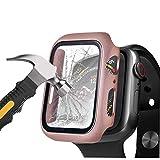 Henstar [2 Pièces] Compatible avec Apple Watch Coque+Protection Écran, Case de Protection en Verre...