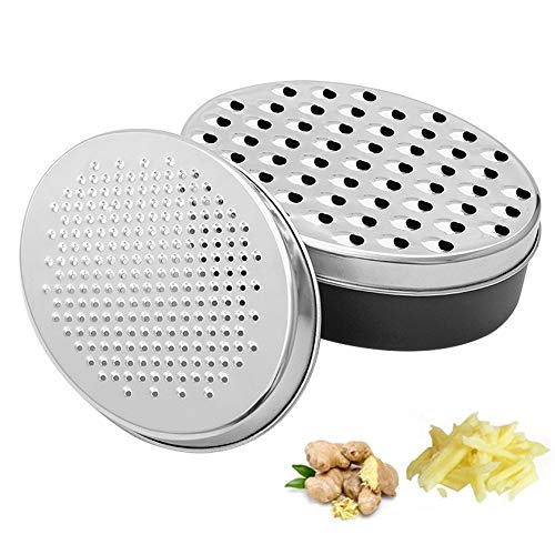 POLARHAWK Cheese Grater with Food Storage Container and Lid Vegetable Chopper,Kitchen Cutter, Shredder for Cheese & Vegetables (2-in-1) for Cheeses Cheddar, Ginger, Vegetables, Butter, Chocolate