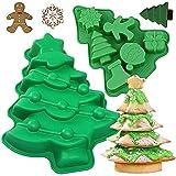 MEZHEN Moldes de Silicona Navidad Molde Árbol de Navidad Molde de Pastel Arbol Navidad Molde para...