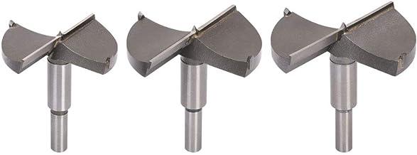 flintronic® Brocas Forstner, 3PCS (65mm 70mm 80mm) Brocas Set de Acero al Tungsteno Titanium Recubierto, Fresadora Herramienta para Perforadora, Corte Agujero en Carpintería para Madera