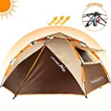 ZOMAKE Dome Tent for Camping 3 4 Person - Waterproof Instant Backpacking Tent, Automatic Hydraulic...